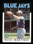 1986 Topps #518  Buck Martinez  Front Thumbnail