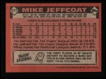1986 Topps #571  Mike Jeffcoat  Back Thumbnail
