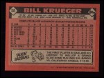 1986 Topps #58  Bill Krueger  Back Thumbnail