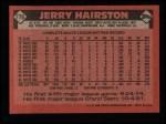 1986 Topps #778  Jerry Hairston  Back Thumbnail