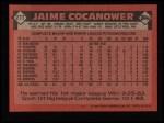 1986 Topps #277  Jaime Cocanower  Back Thumbnail