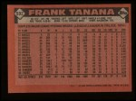 1986 Topps #592  Frank Tanana  Back Thumbnail