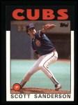 1986 Topps #406  Scott Sanderson  Front Thumbnail