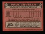 1986 Topps #572  Paul Zuvella  Back Thumbnail