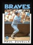 1986 Topps #572  Paul Zuvella  Front Thumbnail