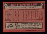 1986 Topps #567  Jeff Barkley  Back Thumbnail