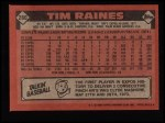 1986 Topps #280  Tim Raines  Back Thumbnail