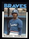 1986 Topps #107  Rafael Ramirez  Front Thumbnail