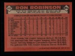 1986 Topps #442  Ron Robinson  Back Thumbnail