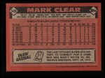 1986 Topps #349  Mark Clear  Back Thumbnail