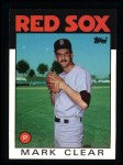 1986 Topps #349  Mark Clear  Front Thumbnail