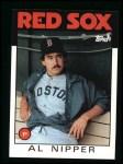 1986 Topps #181  Al Nipper  Front Thumbnail