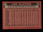 1986 Topps #579  Jim Slaton  Back Thumbnail