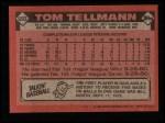 1986 Topps #693  Tom Tellmann  Back Thumbnail