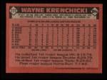 1986 Topps #777  Wayne Krenchicki  Back Thumbnail