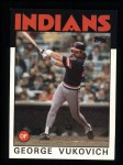 1986 Topps #483  George Vukovich  Front Thumbnail