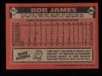 1986 Topps #467  Bob James  Back Thumbnail