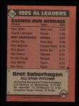 1986 Topps #720   -  Bret Saberhagen All-Star Back Thumbnail