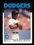 1986 Topps #470  Bill Madlock  Front Thumbnail