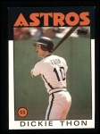 1986 Topps #166  Dickie Thon  Front Thumbnail