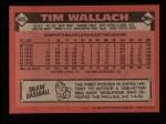 1986 Topps #685  Tim Wallach  Back Thumbnail