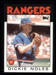 1986 Topps #388  Dickie Noles  Front Thumbnail