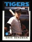 1986 Topps #101  Dave Bergman  Front Thumbnail