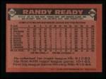 1986 Topps #209  Randy Ready  Back Thumbnail