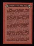 1986 Topps #404   -  Frank Robinson TBC Turn Back The Clock Back Thumbnail