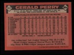 1986 Topps #557  Gerald Perry  Back Thumbnail