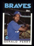 1986 Topps #557  Gerald Perry  Front Thumbnail