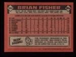 1986 Topps #584  Brian Fisher  Back Thumbnail