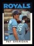 1986 Topps #743  Pat Sheridan  Front Thumbnail