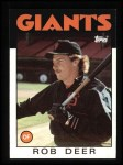 1986 Topps #249  Rob Deer  Front Thumbnail