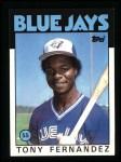 1986 Topps #241  Tony Fernandez  Front Thumbnail