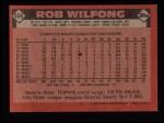 1986 Topps #658  Rob Wilfong  Back Thumbnail