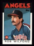 1986 Topps #658  Rob Wilfong  Front Thumbnail