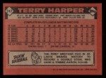1986 Topps #247  Terry Harper  Back Thumbnail