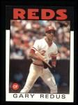 1986 Topps #342  Gary Redus  Front Thumbnail