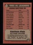 1986 Topps #719   -  Carlton Fisk All-Star Back Thumbnail
