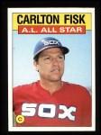 1986 Topps #719   -  Carlton Fisk All-Star Front Thumbnail