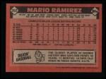 1986 Topps #262  Mario Ramirez  Back Thumbnail