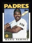 1986 Topps #262  Mario Ramirez  Front Thumbnail