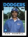 1986 Topps #654  Ken Howell  Front Thumbnail