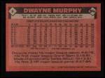 1986 Topps #8  Dwayne Murphy  Back Thumbnail