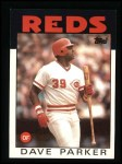 1986 Topps #595  Dave Parker  Front Thumbnail