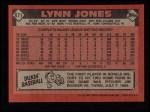 1986 Topps #671  Lynn Jones  Back Thumbnail