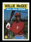 1986 Topps #707   -  Willie McGee All-Star Front Thumbnail