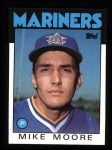 1986 Topps #646  Mike Moore  Front Thumbnail