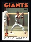 1986 Topps #153  Ricky Adams  Front Thumbnail